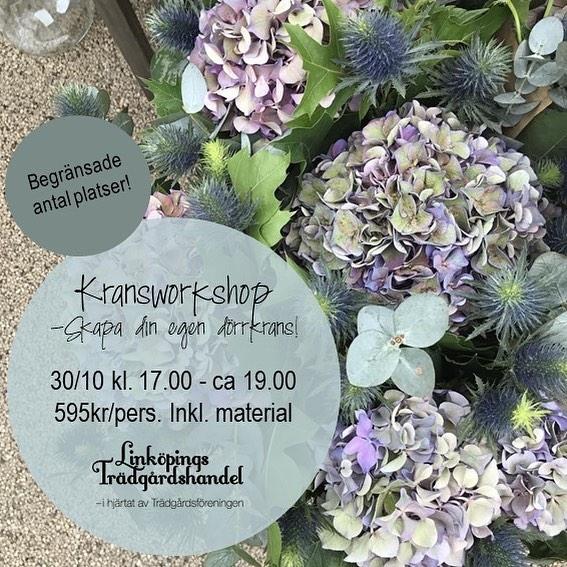 Kransworkshop Linköpings trädgårdshandel med våra duktiga florister